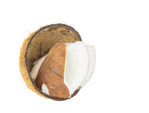 Coconut Flesh and Shell III Royalty Free Stock Images