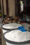 Coconut flour on sell in market Stock Photography