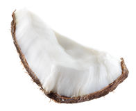 Coconut. Fruit chunk on white background Stock Images