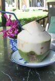 Coconut fruit, coconut juice. Or coconut milk Royalty Free Stock Photos