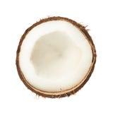 Coconut fruit cut in half Royalty Free Stock Photos