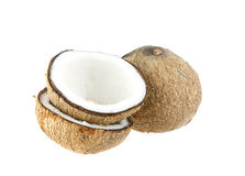 Coconut fruit - ingredient food on white Royalty Free Stock Image