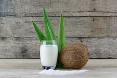 Coconut fruit and milk Royalty Free Stock Photography