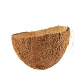 Coconut fruit shell cut in half Royalty Free Stock Photo