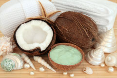 Coconut Spa Massage Stock Photos