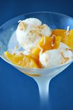 Coconut gelato. With fresh mango Stock Images