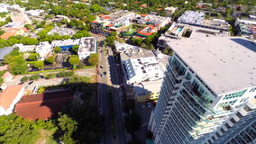 Coconut Grove FL aerial video stock footage