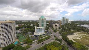 Coconut Grove Florida 4k aerial video stock video footage