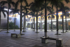 Coconut grove of tianzhu resorts hotel night view Royalty Free Stock Photography