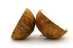 Coconut in half Stock Images