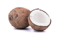 Coconut with half Royalty Free Stock Image