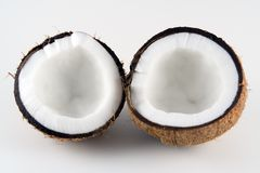 Coconut halves Royalty Free Stock Image