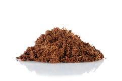 Coconut husk fiber organic fertilizer Royalty Free Stock Photo