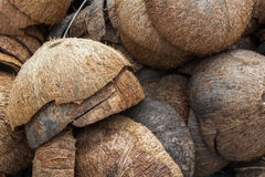 Coconut husks Royalty Free Stock Photography