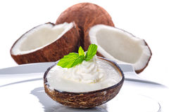 Coconut ice cream Royalty Free Stock Image