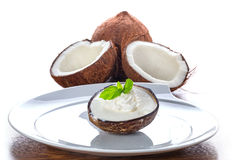 Coconut ice cream Stock Image