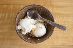 Coconut ice cream. Stock Image