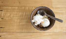 Coconut ice cream. Royalty Free Stock Photography