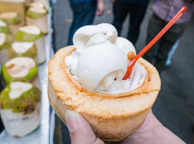 Coconut ice cream Royalty Free Stock Images