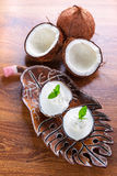 Coconut ice creams Royalty Free Stock Photo