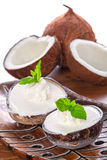Coconut ice creams Stock Image