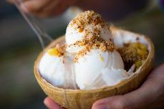 Coconut ice crean Royalty Free Stock Image