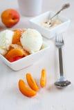 Coconut icecream Stock Photo