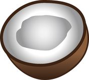 Coconut Icon Royalty Free Stock Photography