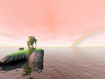 Coconut Island Rainbow Royalty Free Stock Image