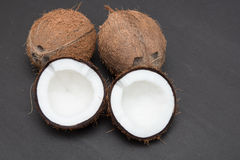 Coconut isolated on black Stock Photos