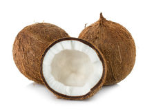 Coconut isolated on white Royalty Free Stock Images
