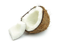 Coconut, isolated on white background Stock Images