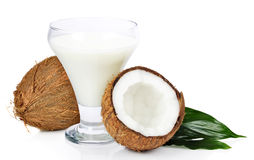Coconut with juice royalty free stock image