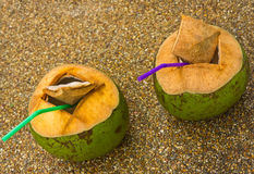 Coconut juice. Royalty Free Stock Photo
