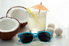 Coconut juice stock image