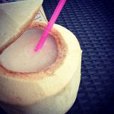 Coconut juice. Fresh Coconut juice Royalty Free Stock Image
