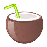 Coconut juice isolated illustration Royalty Free Stock Photo