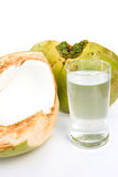 Coconut and juice. Stock Images