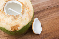Coconut and juice. Royalty Free Stock Photography