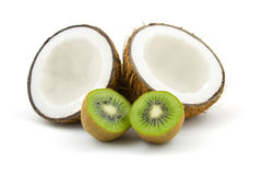 Coconut and kiwi Stock Photos