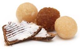Coconut laddu of Southeast Asia Stock Photos