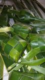 Coconut leaves as food wrapper Royalty Free Stock Photography