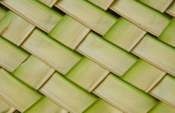 Coconut leaves weave pattern Royalty Free Stock Images