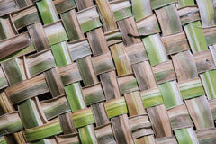 Coconut leaves weave pattern Stock Photo