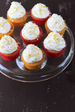 Coconut and lemon cupcakes Stock Image