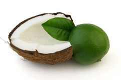 Coconut and lime Stock Image