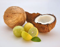 Coconut and Lime Royalty Free Stock Photo