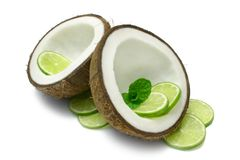 Coconut and Lime Royalty Free Stock Photography