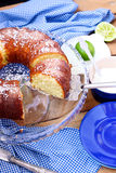 Coconut and lime ring cake Stock Image
