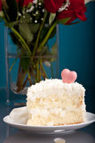 Coconut Love Cake Stock Image